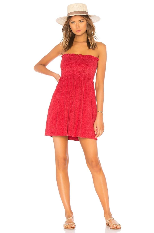 INDAH Mercy Strapless Mini Red Dress