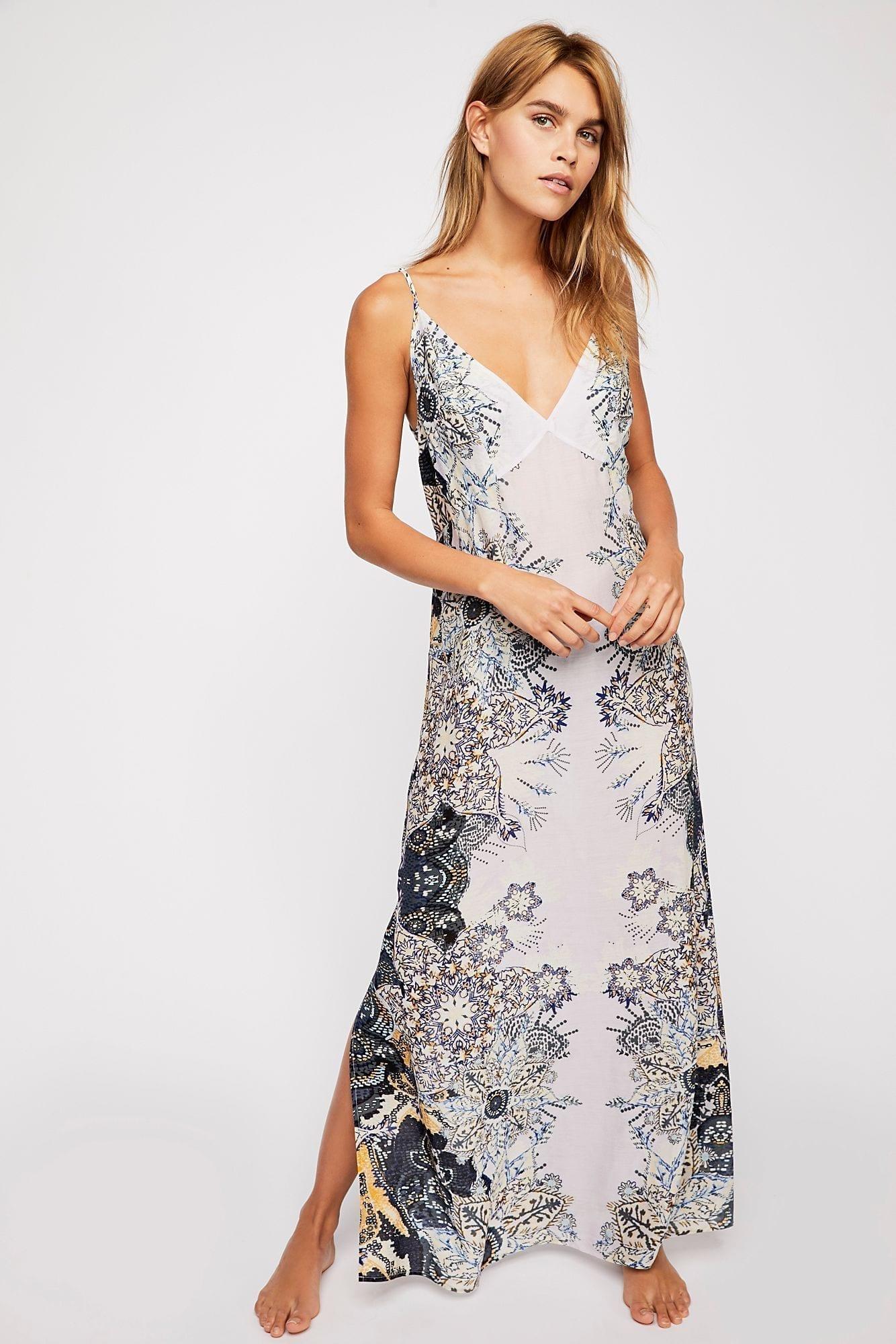 INTIMATELY Wildflower Printed Slip Lilac Dress