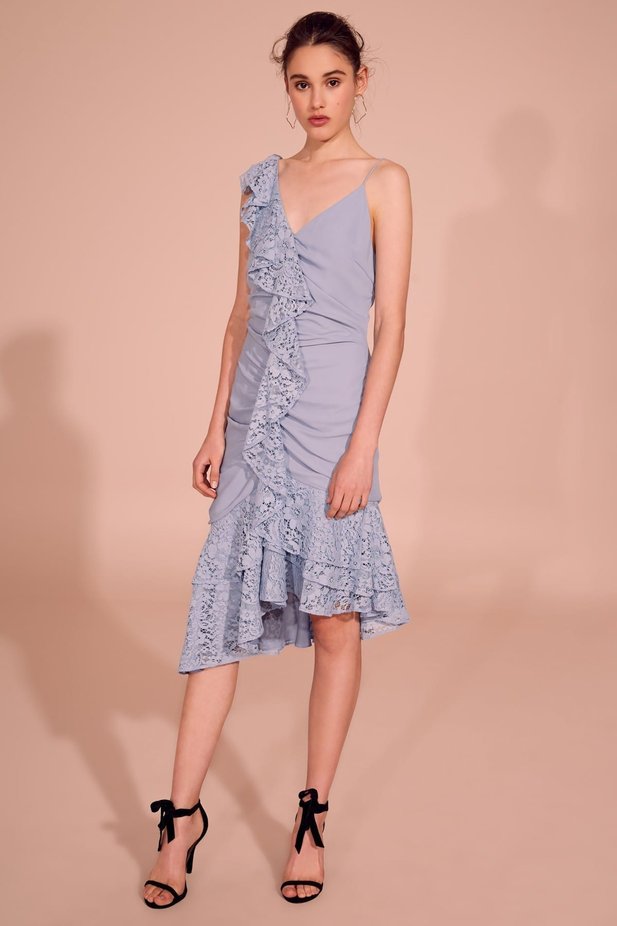 KEEPSAKE All Night Dusty Blue Dress