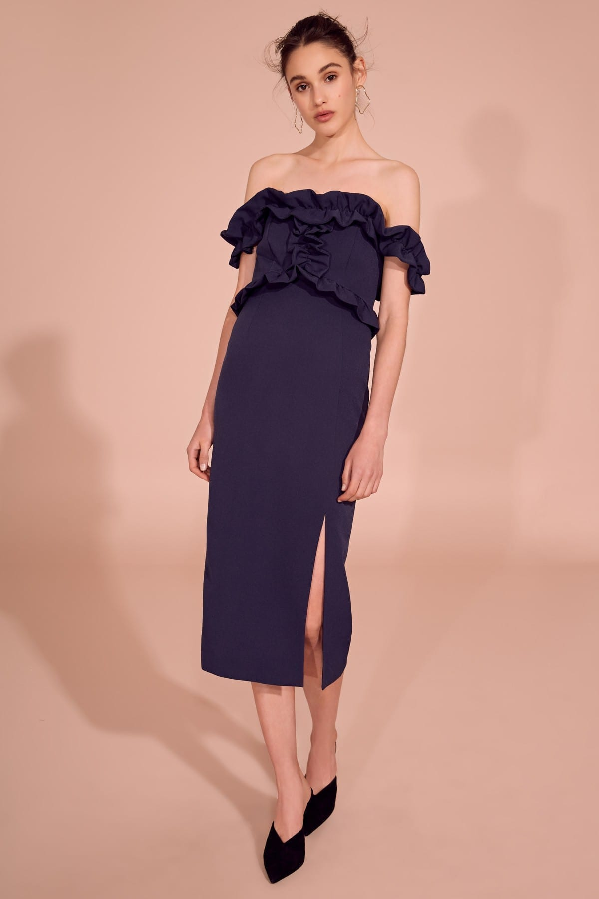 KEEPSAKE Escape Midi Navy Dress