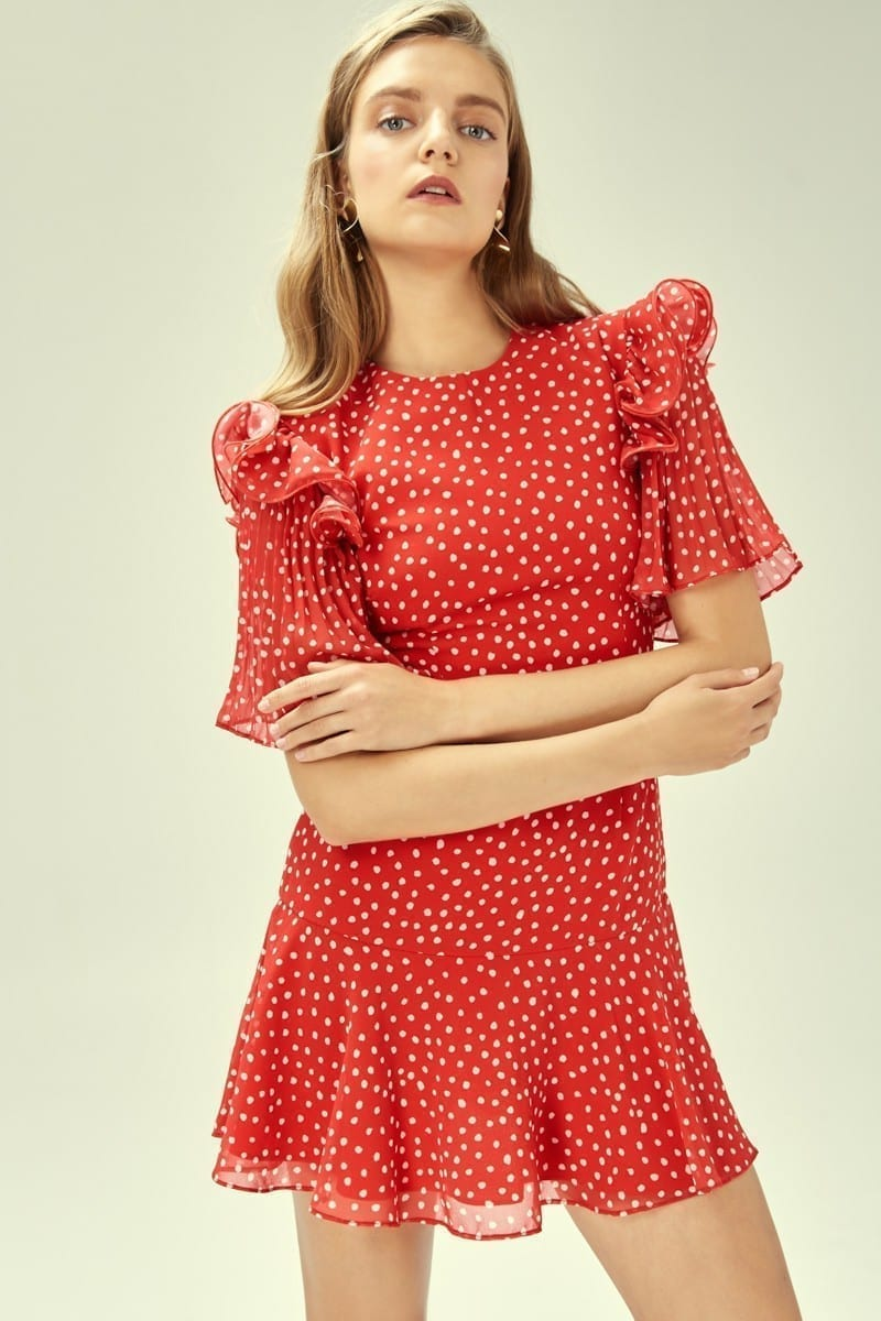 KEEPSAKE Moonshine Red Dress
