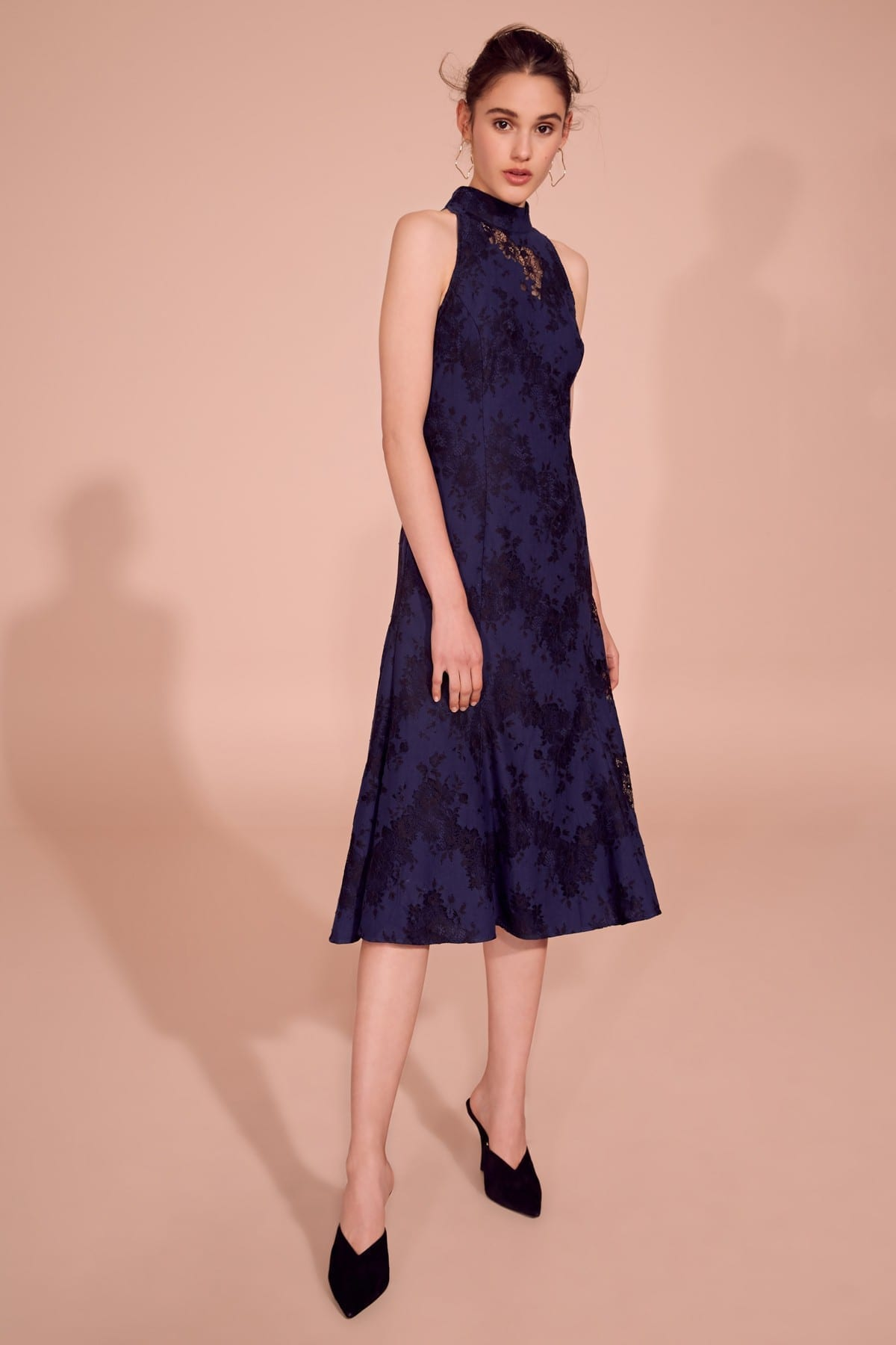 KEEPSAKE This Love Midi Navy Dress