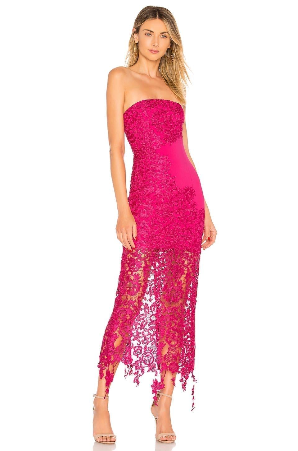 LOVERS + FRIENDS Franz Fuchsia Gown