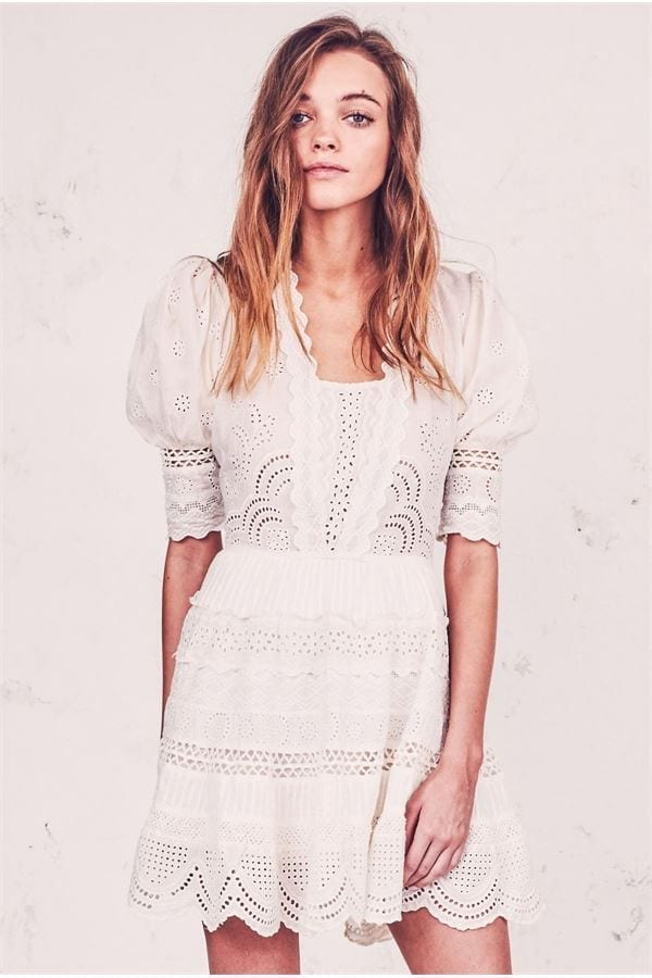 LOVESHACKFANCY Kristen Ivory Dress