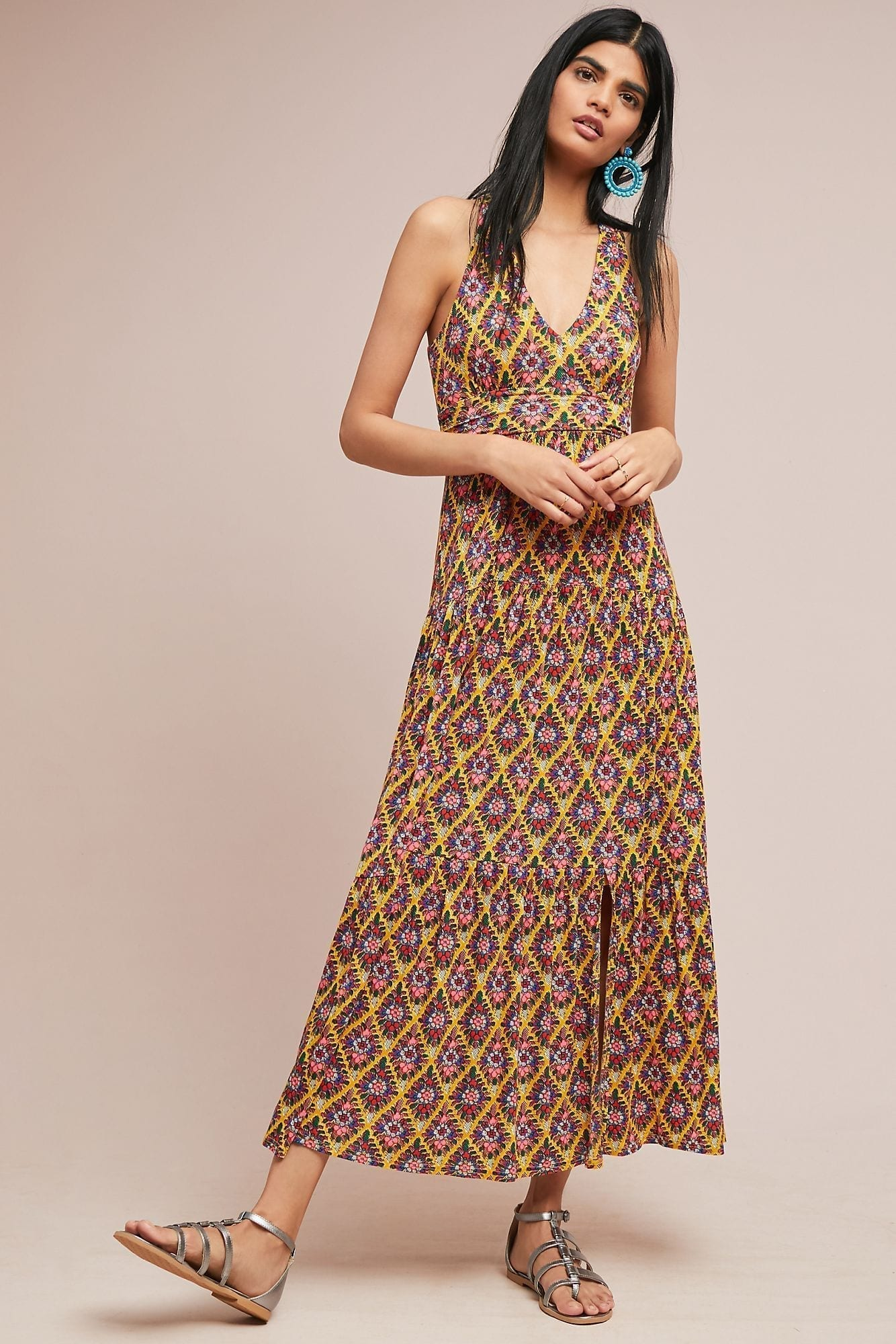 MAEVE Luella Maxi Yellow Dress