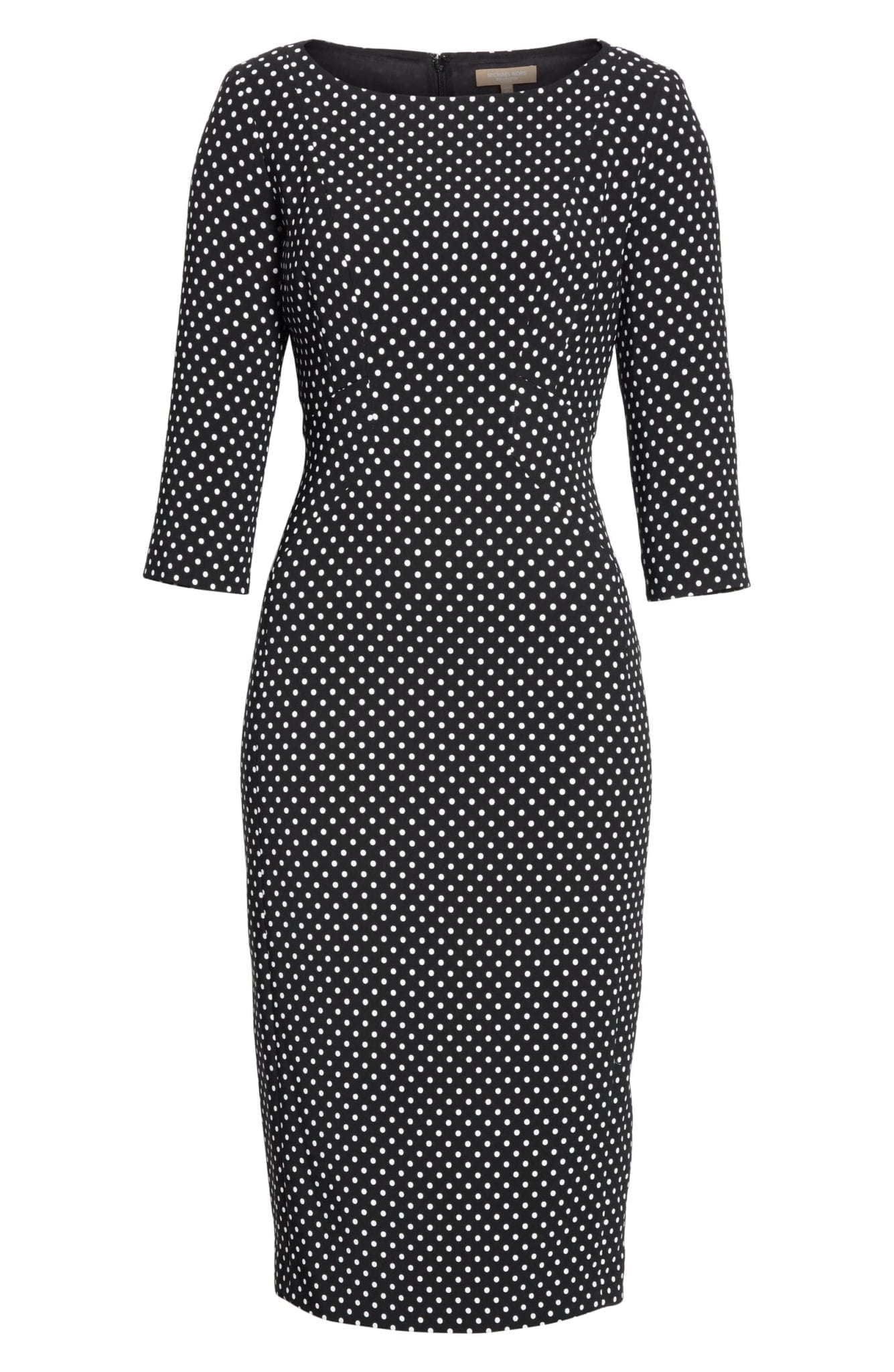MICHAEL KORS Polka Dot Sheath Black / Optic White Dress