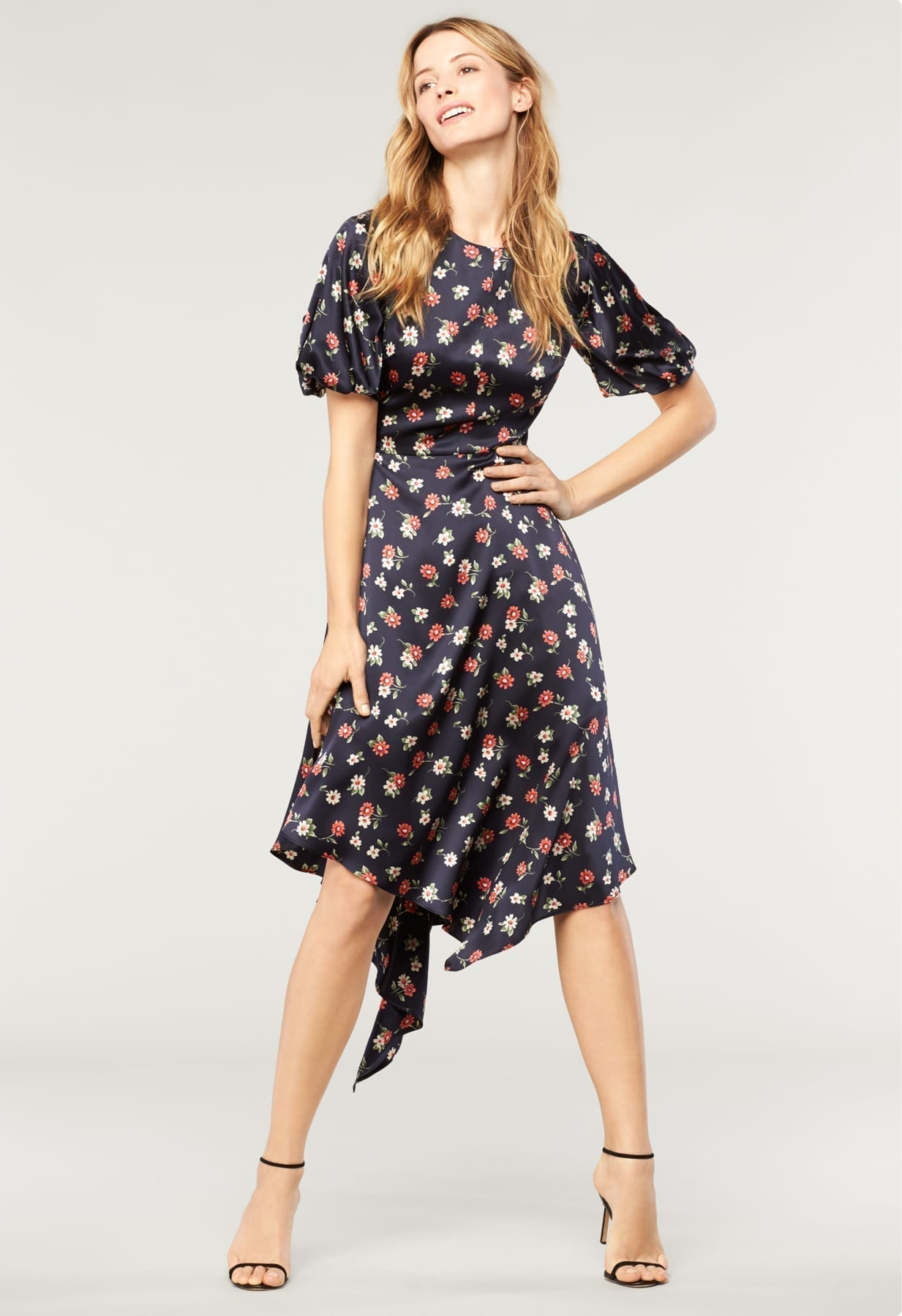 MILLY Silk On Cynthia Multi / Floral Printed Dress - We Select Dresses