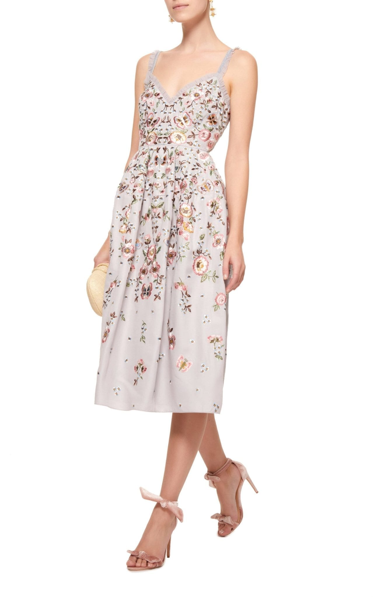 NEEDLE & THREAD Butterfly Rose Cami Blue Dress