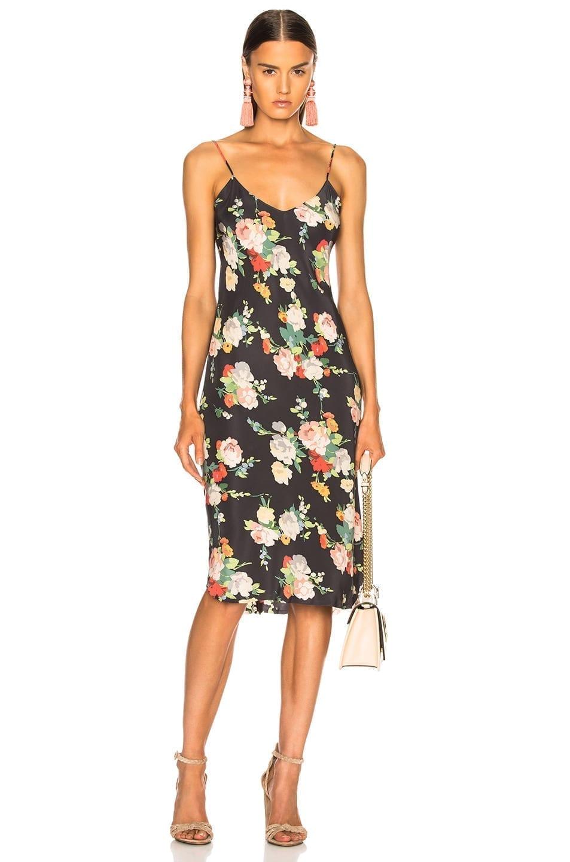 NILI LOTAN Short Cami Floral Printed Dress