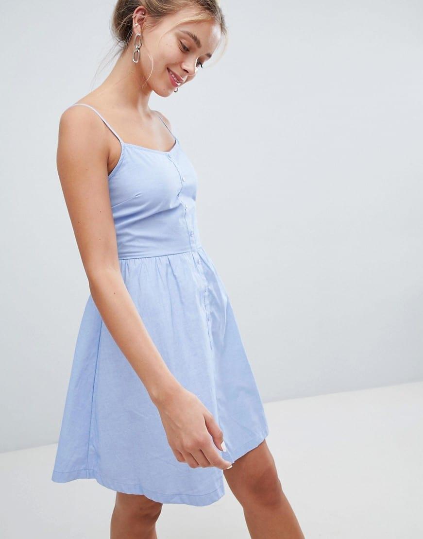 PIMKIE Skinny Strap Sun Blue Dress