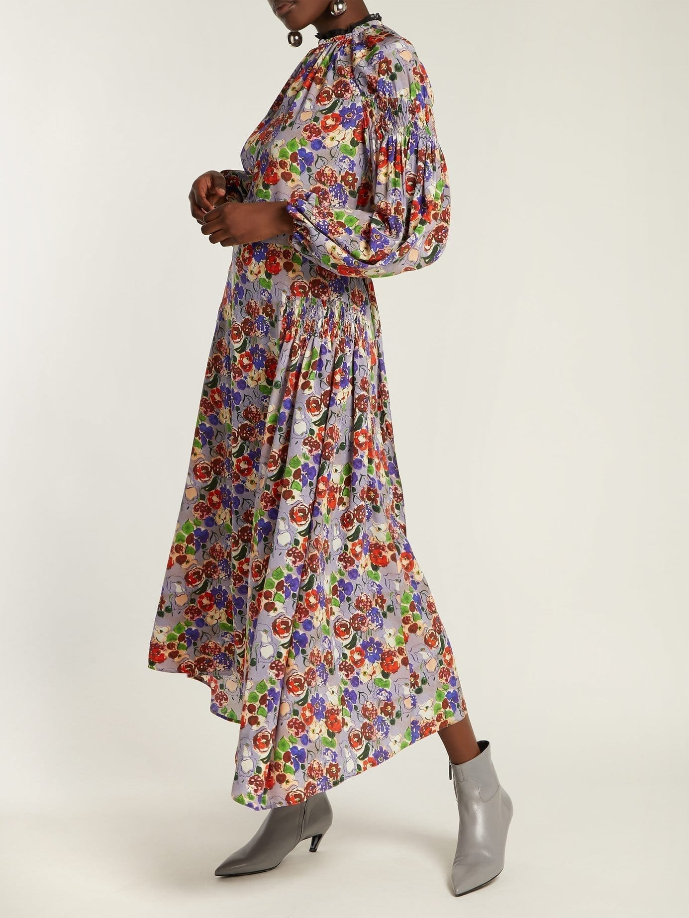 PRADA Morocaine Primrose Silk Multi / Floral Printed Dress