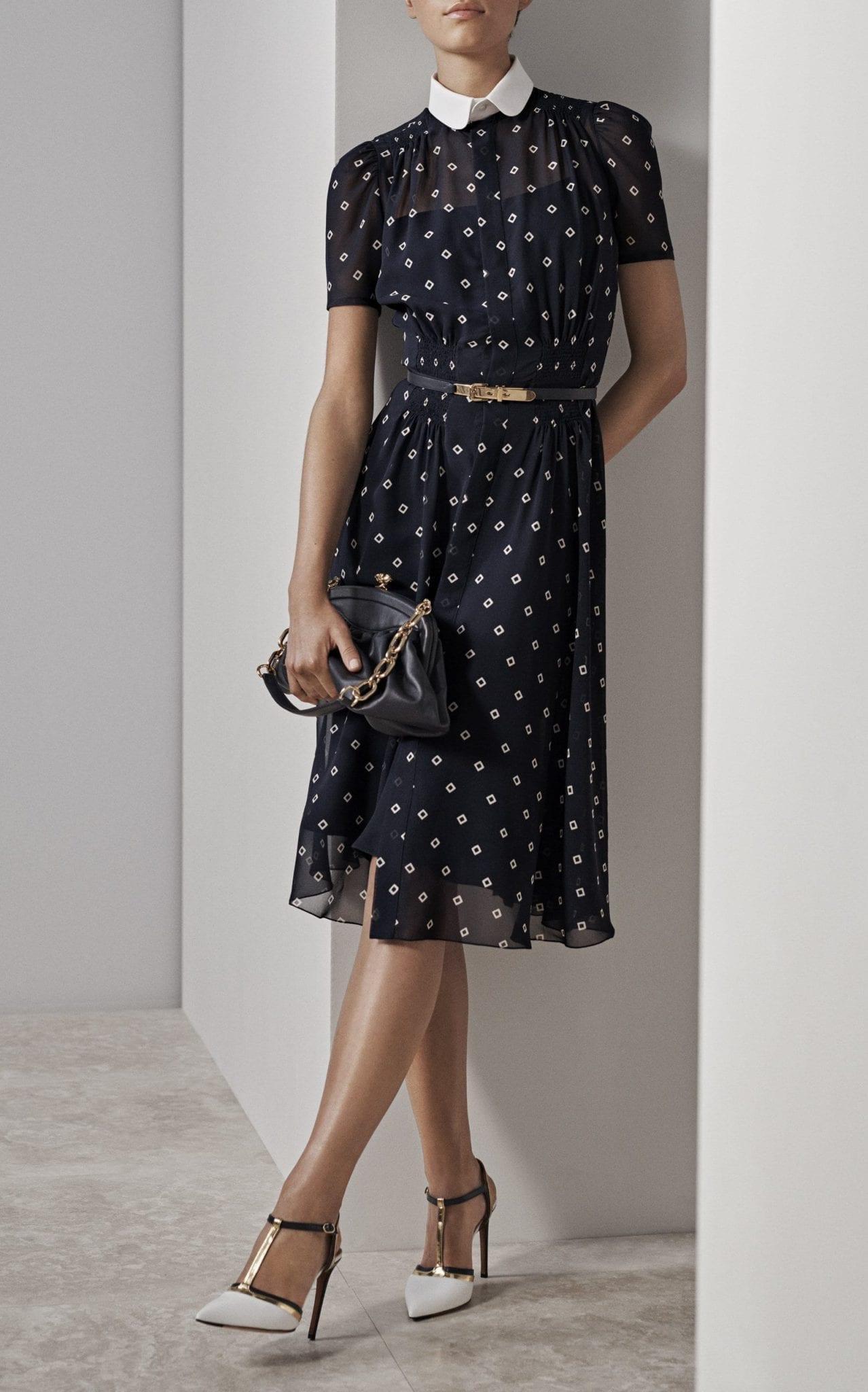 RALPH LAUREN Short Mazie Black / Printed Dress
