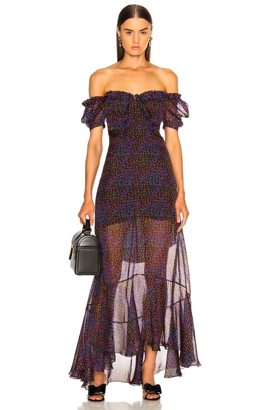 RAQUEL DINIZ Alice Maxi Black / Printed Dress