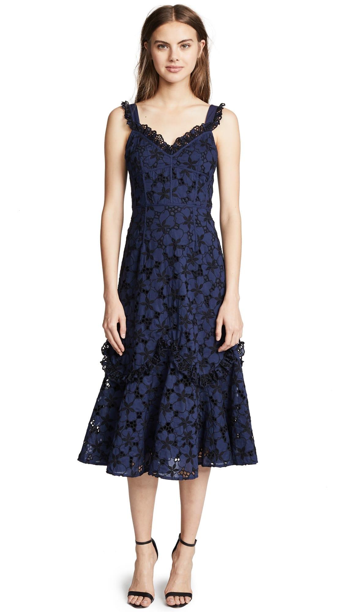 REBECCA TAYLOR Adriana Blueberry Dress