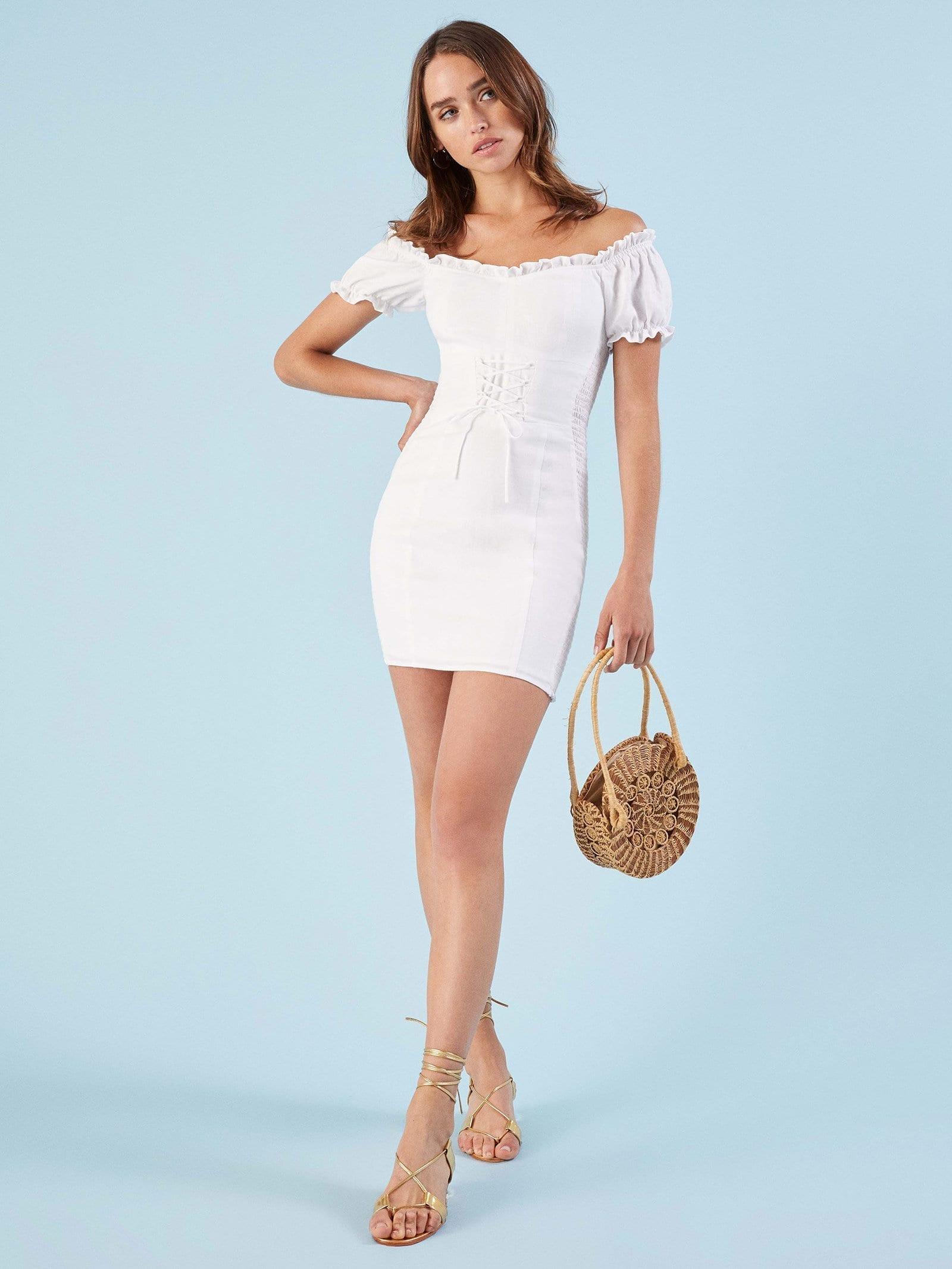 REFORMATION Miami White Dress