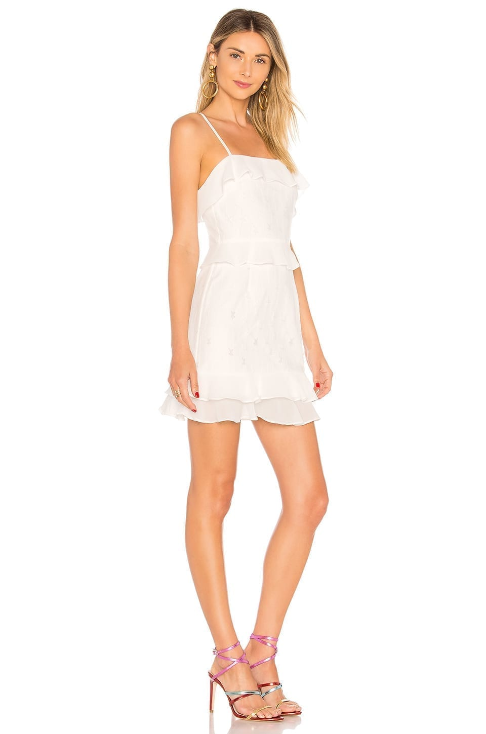 Revolve Brinley Ruffle White Star Dress We Select Dresses
