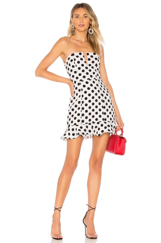 REVOLVE Karla Polka Dot Black / White Dress