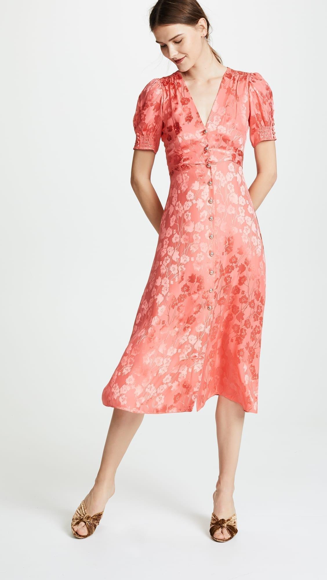 V Neck Color Block Long Sleeve Sheath Dress retail stores online brands