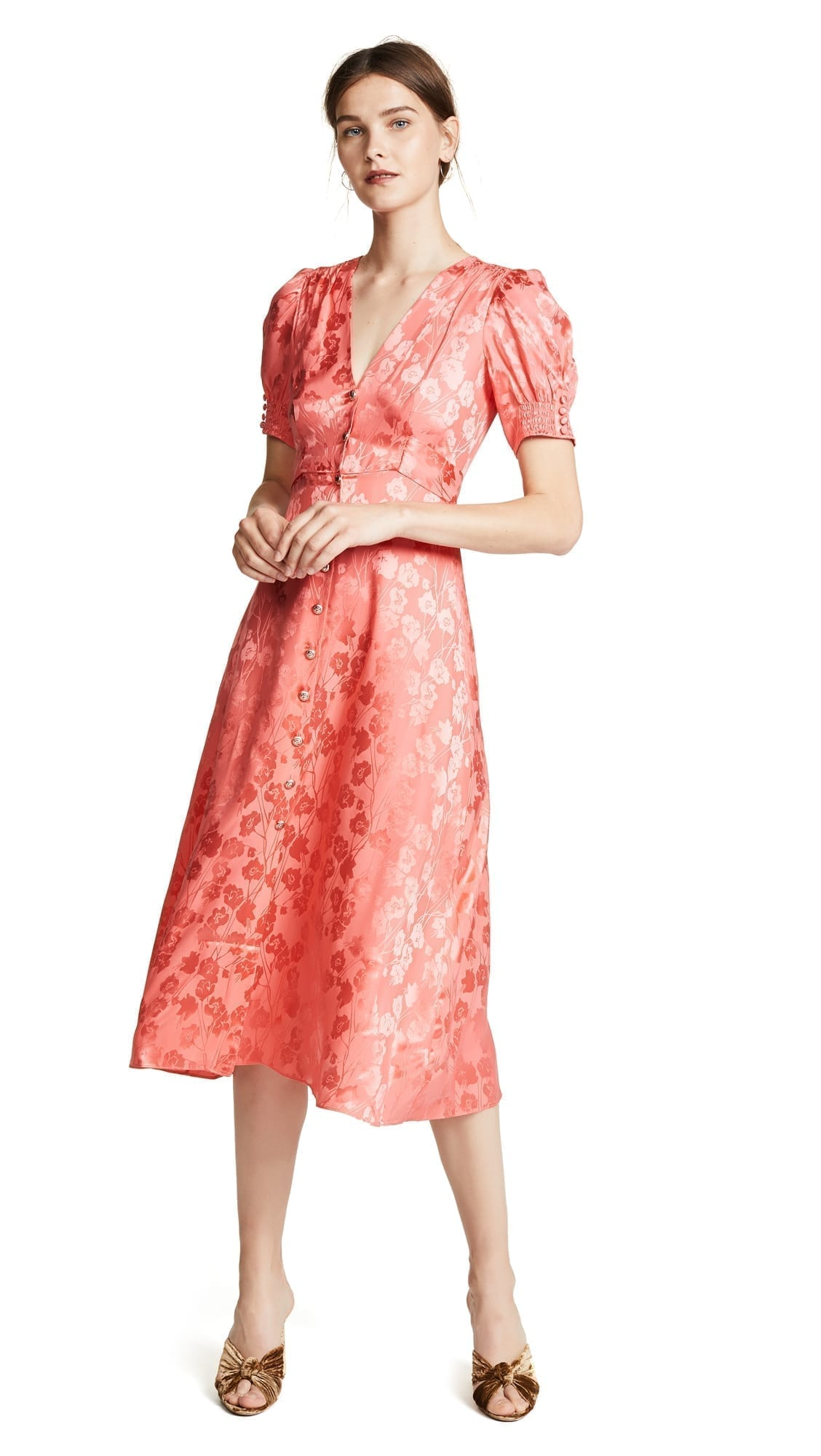 SALONI Lea Bright Coral Dress