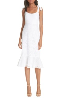 SALONI Rosie Eyelet White Dress