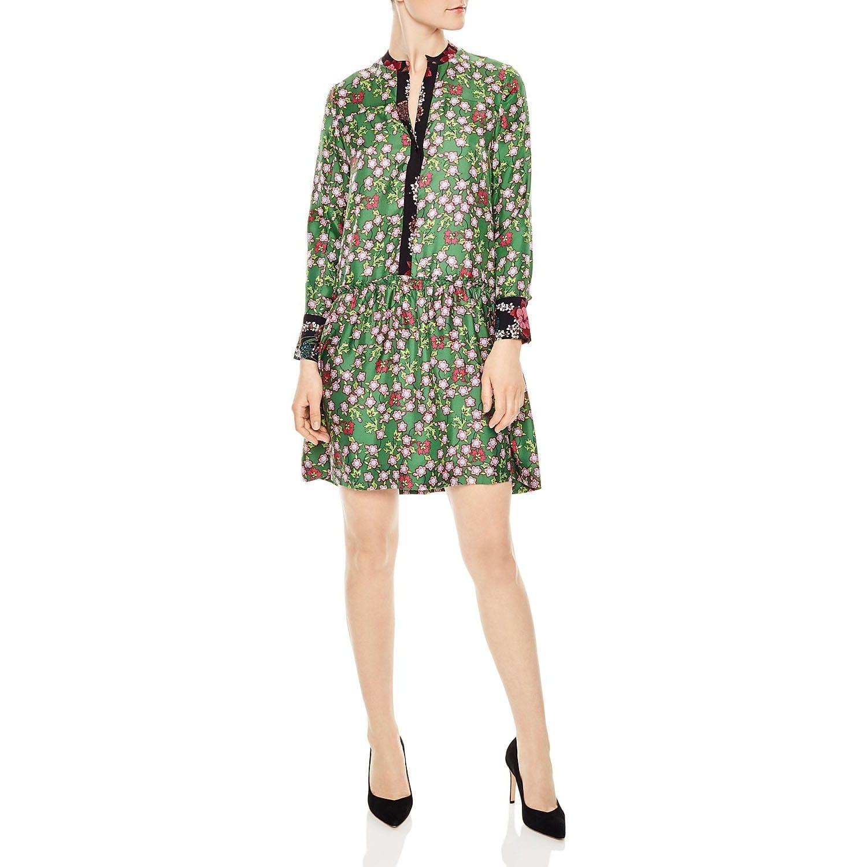 5cadcd414cd SANDRO Torr Silk Green   Floral Printed Dress - We Select Dresses