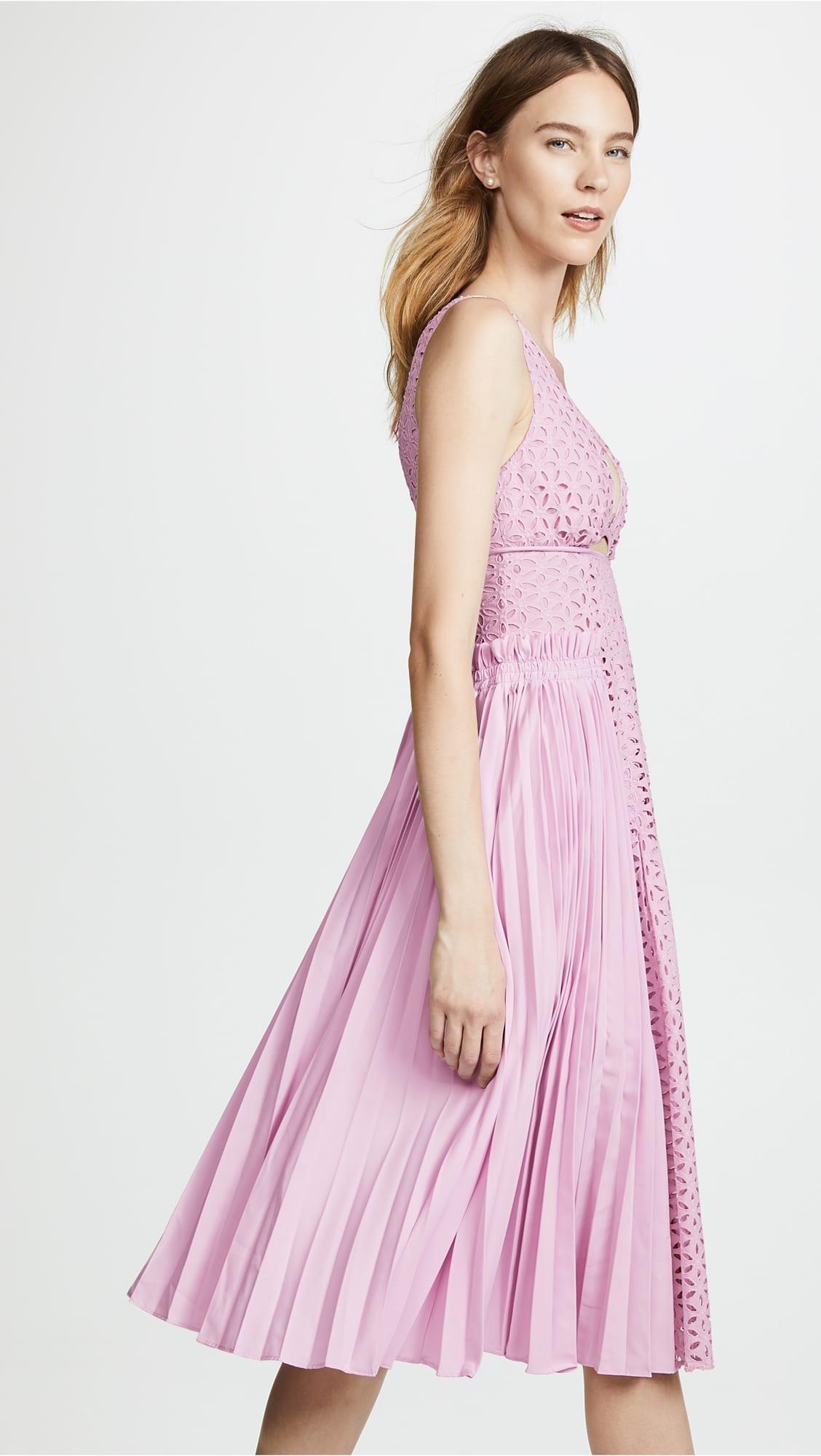 SELF PORTRAIT Midi Lilac Dress - We Select Dresses