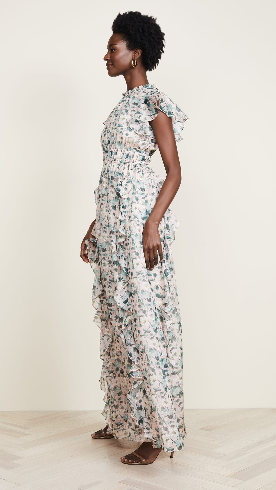 SHOSHANNA Triana Blush Multi / Floral Printed Gown - We Select Dresses