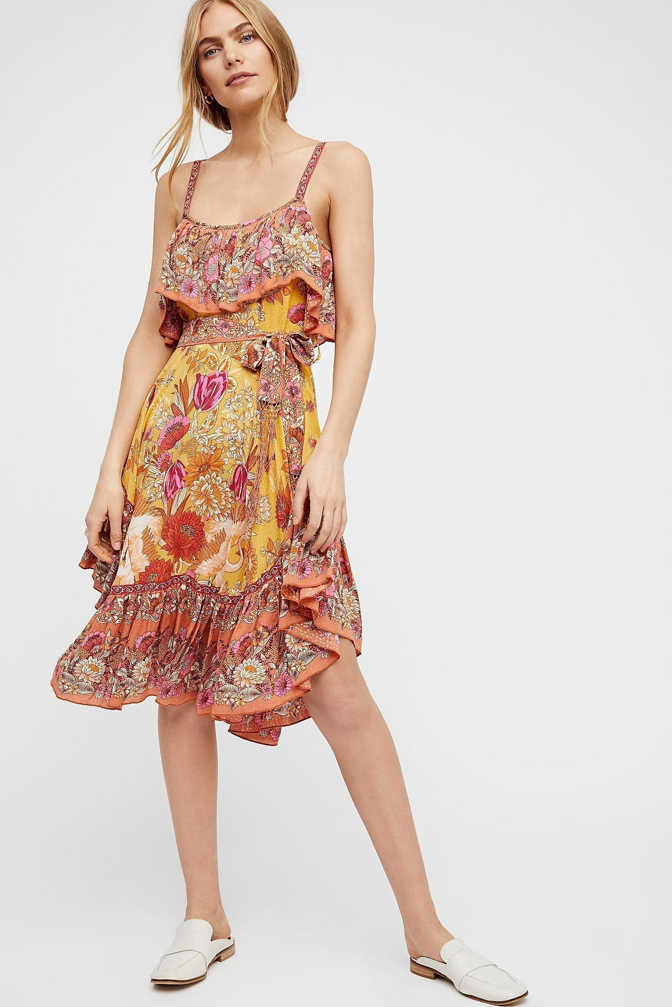 SPELL AND THE GYPSY COLLECTIVE Siren Song Strappy Marigold Dress