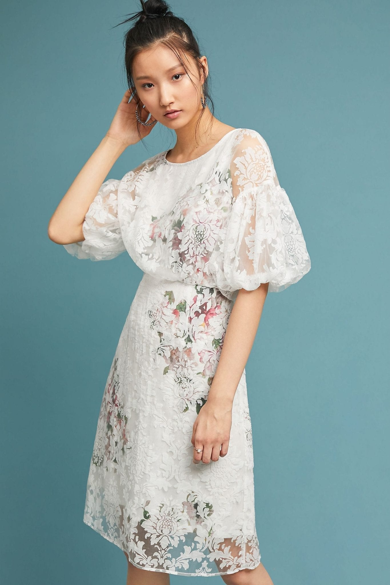 TRACY REESE X ANTHROPOLOGIE Guiana Neutral / Floral Dress