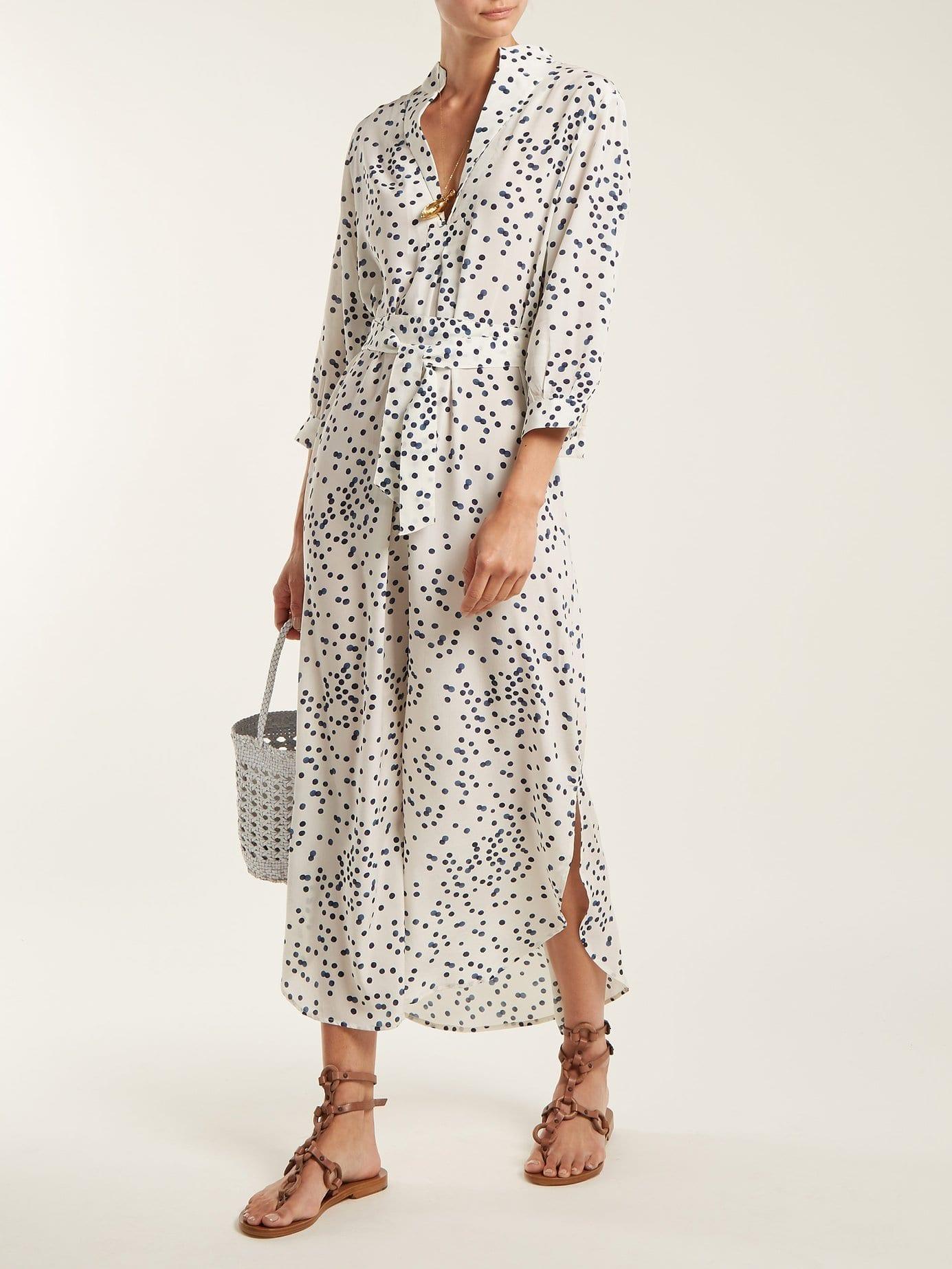 WIGGY KIT St Germain Silk White Dress