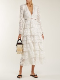 ZIMMERMANN Bayou Cotton Broderie Anglaise Midi Ivory Dress