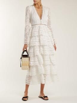 ZIMMERMANN Bayou Cotton Broderie Anglaise Midi Ivory Dress