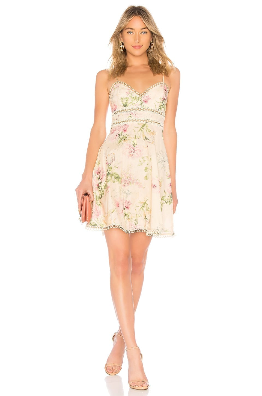ZIMMERMANN Iris Sun Cream / Floral Printed Dress
