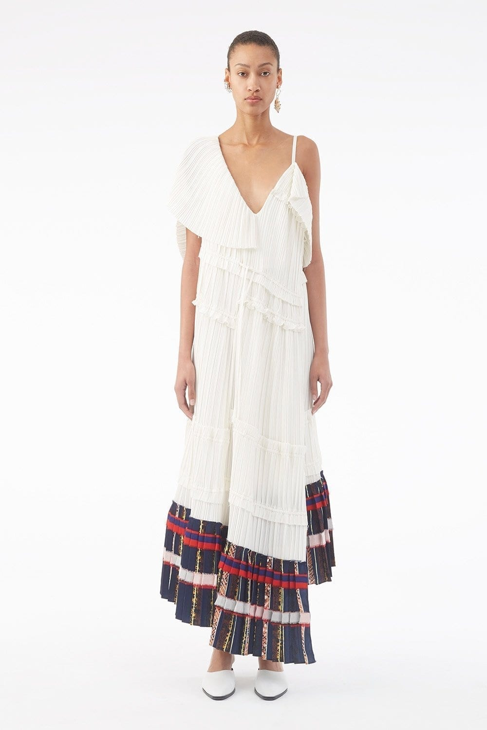 31PHILLIPLIM Pleated Asymetrical Off White Dress