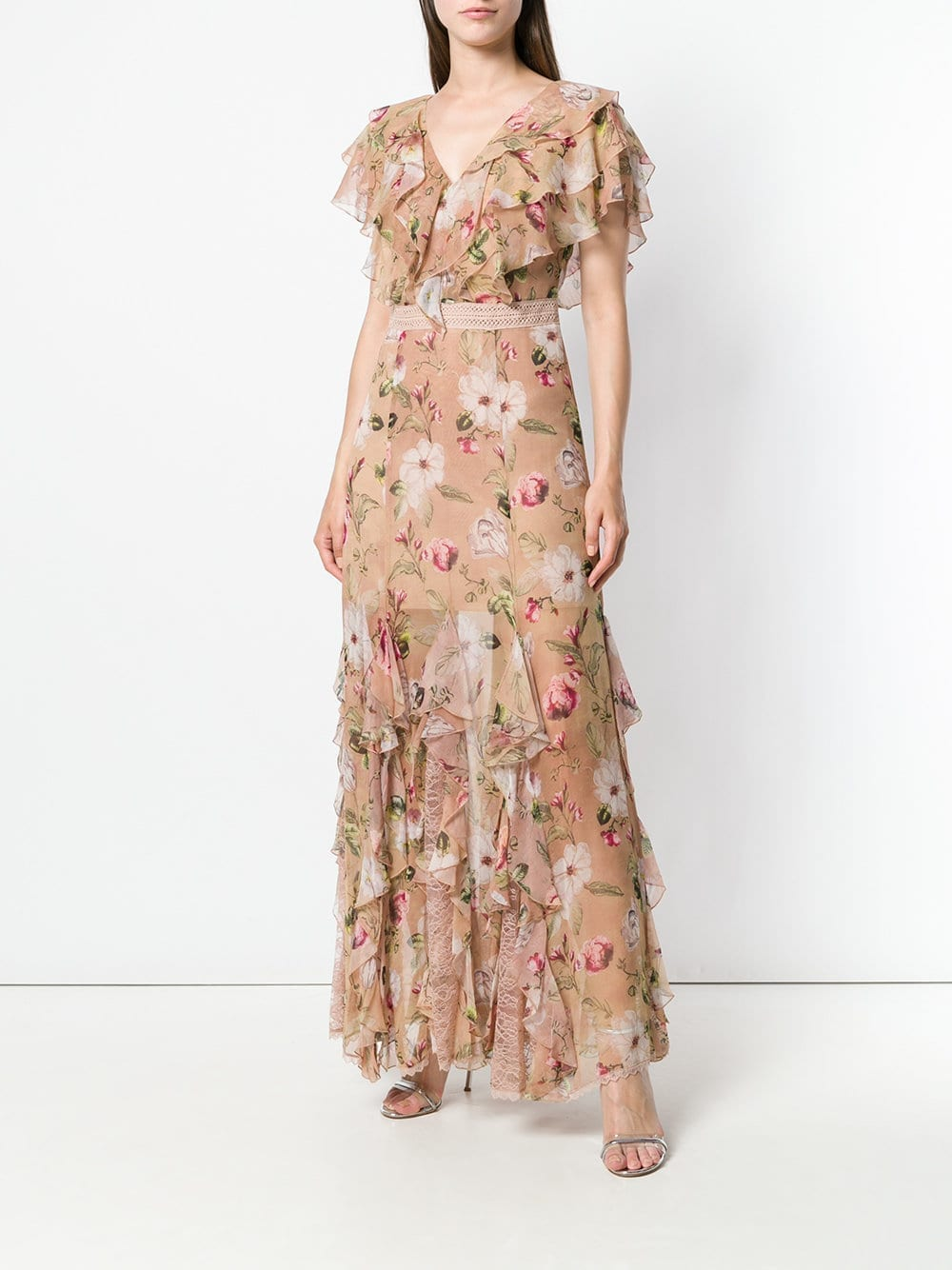 ALICE+OLIVIA Multi / Floral Printed Gown