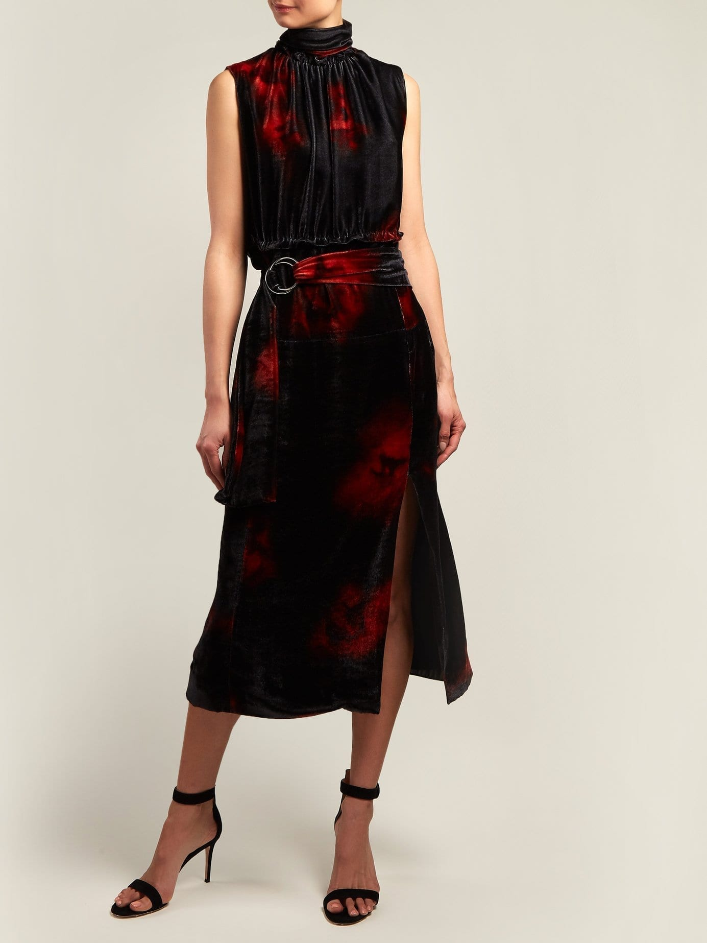 ALTUZARRA Indira Velvet Black Dress