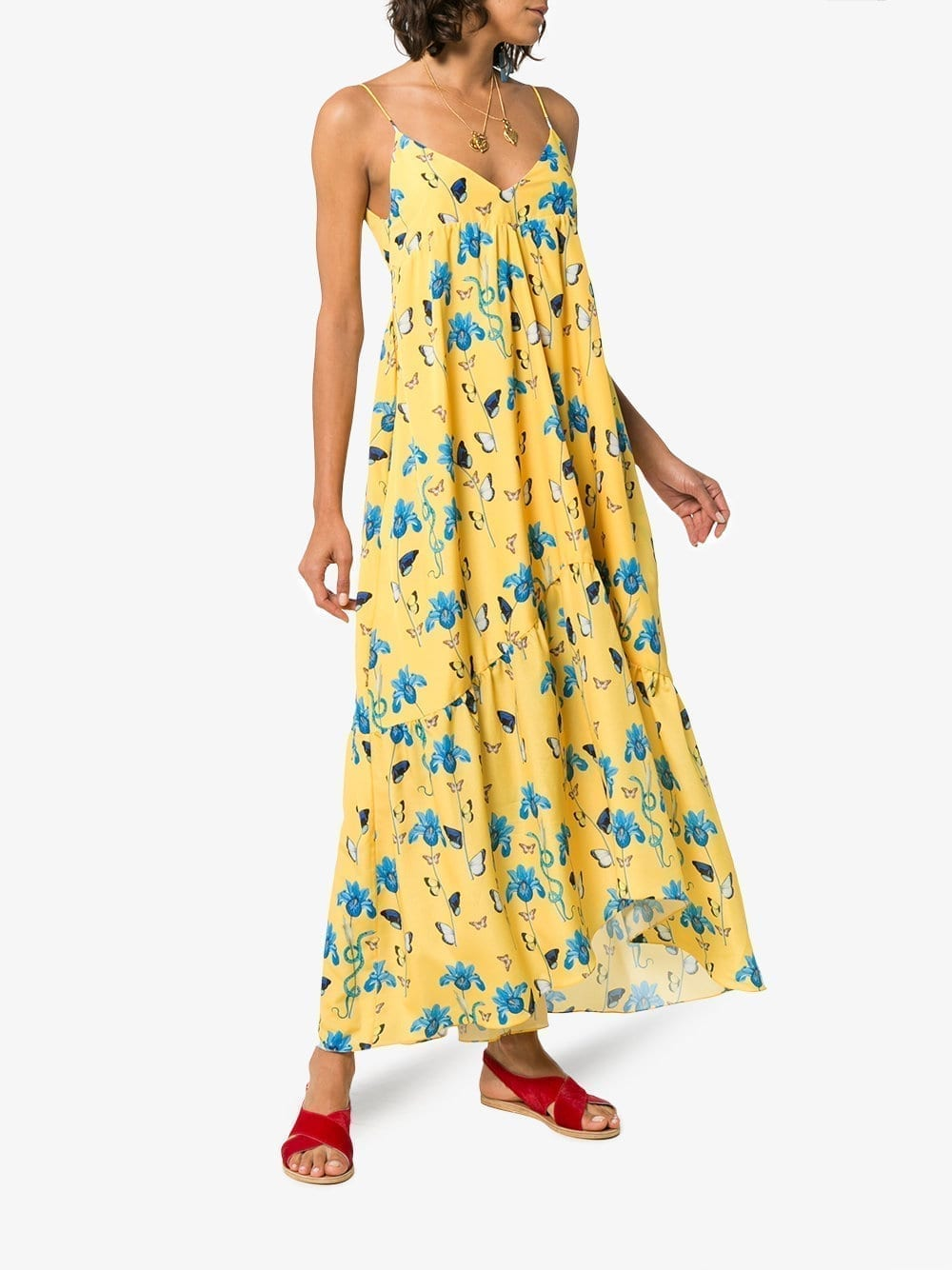 BORGO DE NOR Anais Yellow / Floral Printed Dress