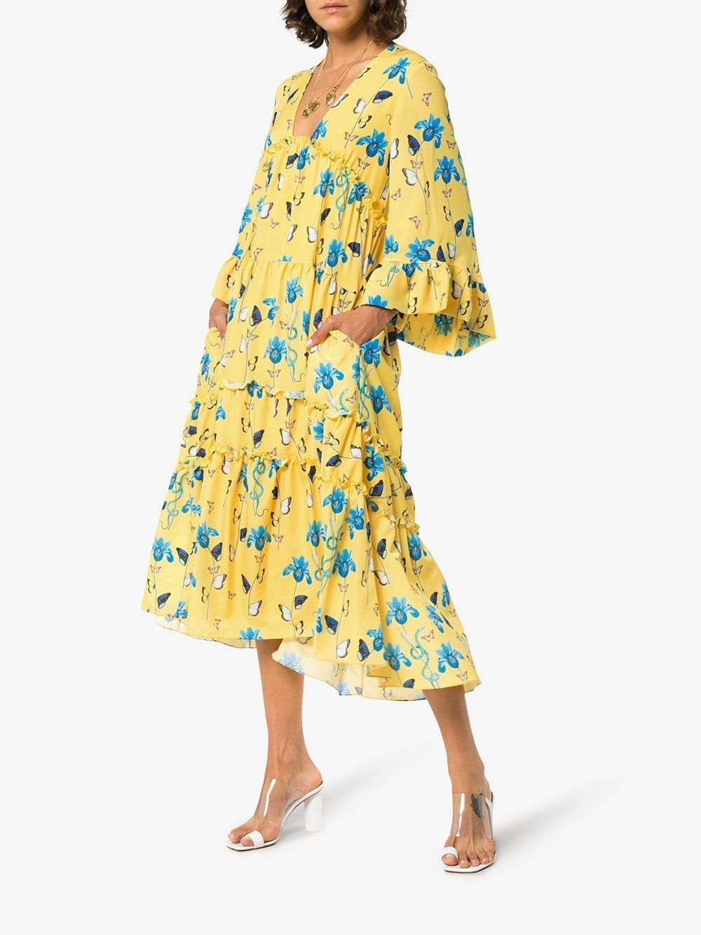 BORGO DE NOR Iris Yellow / Floral Print Dress