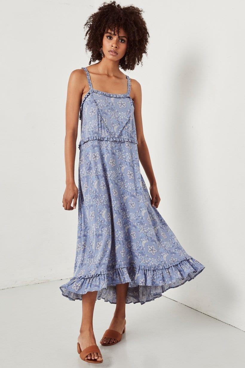 CELESTIAL Midi Chambray Dress