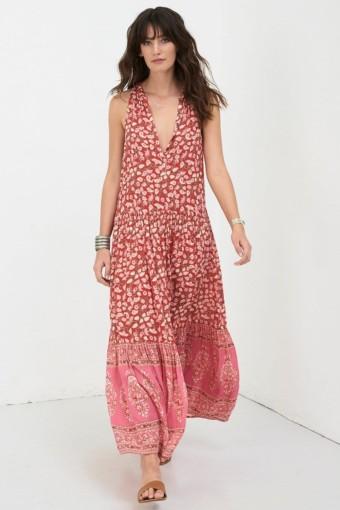 DELIRIUM Maxi Red Coral Dress