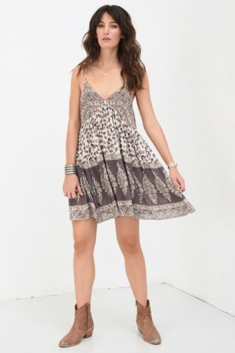 DELIRIUM Strappy Mini Cream Dress