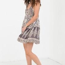 8b14f866537a SPELL & GYPSY Delirium Strappy Mini Cream Dress - We Select Dresses
