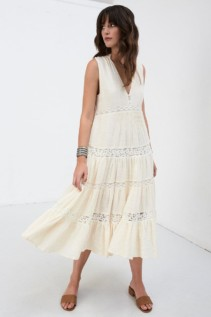 DOE EYED Midi Cream Dress
