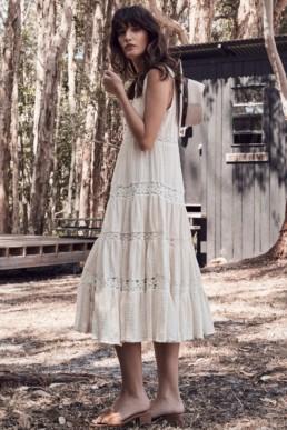 DOE EYED Midi Cream Dress