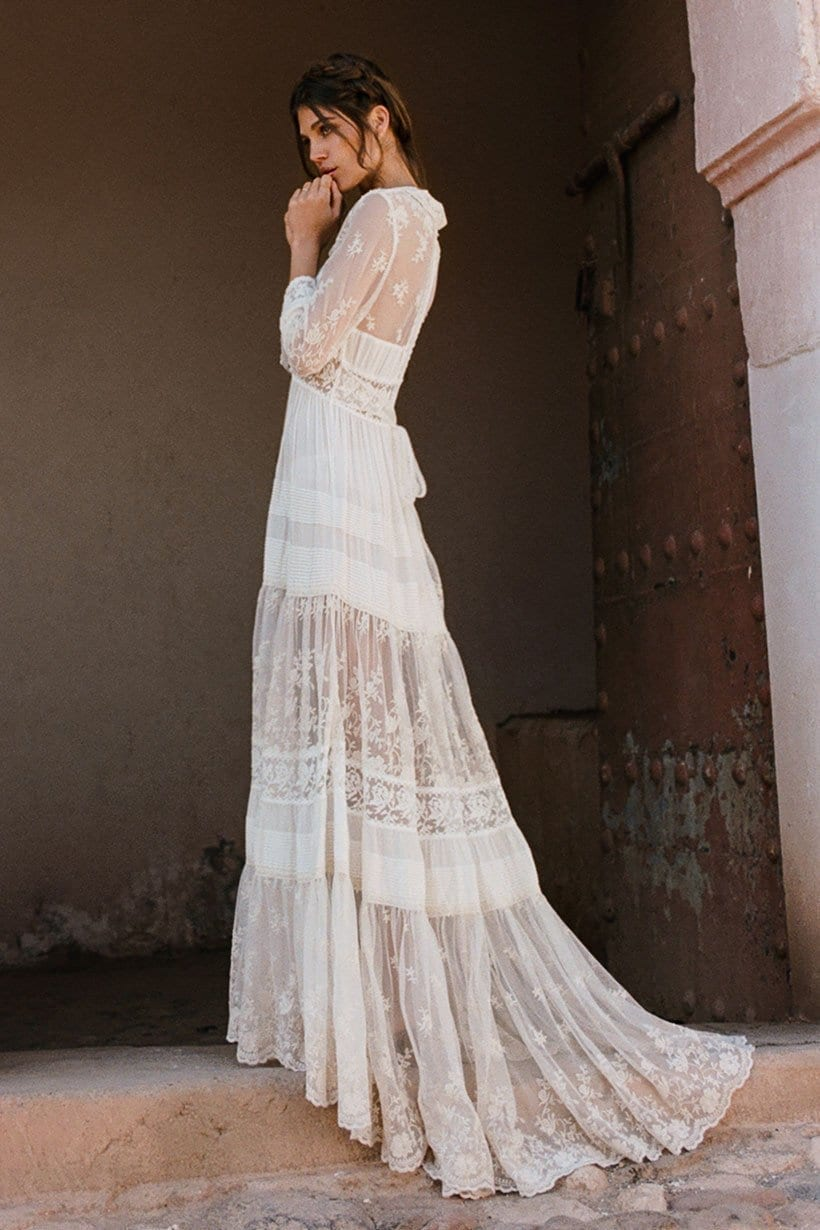 EVANGELINE Off White Gown