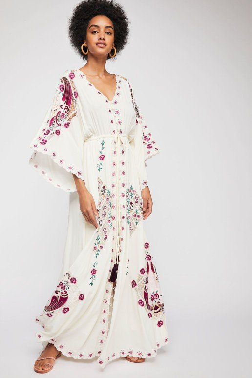 FILLYBOO Balloon Rouge Duster Maxi Ivory Dress