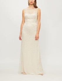 JENNY PACKHAM Assana Emellished-tulle Illusion Gown