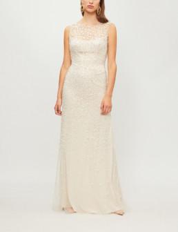 JENNY PACKHAM Assana Emellished-tulle Illusion Gown