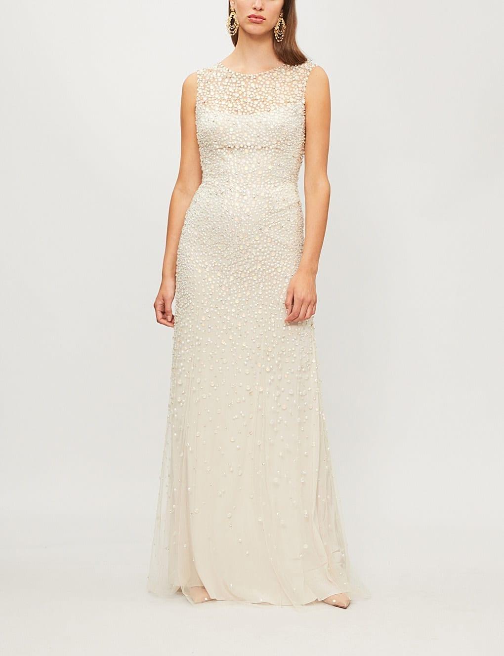 58558780f0ada JENNY PACKHAM Assana Emellished-tulle Illusion Gown