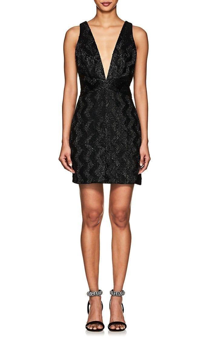 MANNING CARTELL Beaded Mini Black Dress